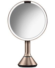 "simplehuman 8"" Rose Gold Sensor Mirror With Brightness Control"