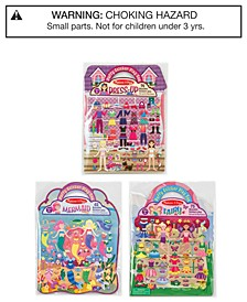 Melissa & Doug 3-Pk. Fairy, Dress-Up & Mermaid Puffy Sticker Play Sets Bundle