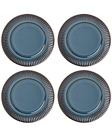 Dansk Flamestone Denim Salad Plates, Set of 4