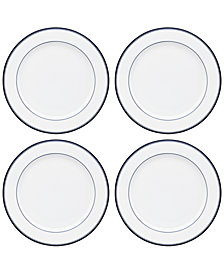 Dansk Allegro Blue Dinner Plates, Set of 4