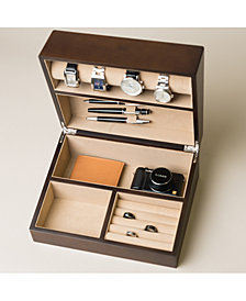 Trenton Walnut Valet and Watch Box
