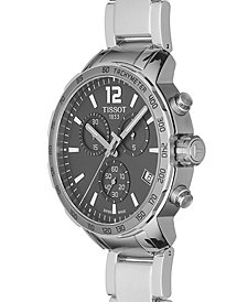 Tissot Men's Swiss Chronograph Quickster Stainless Steel Bracelet Watch 42mm T0954171106700