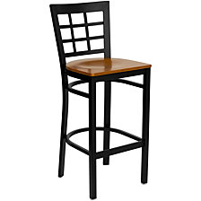 Hercules Series Black WindowRestaurant Barstool