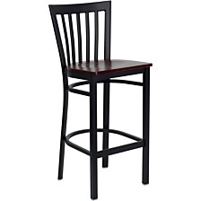Hercules Series Black School HouseRestaurant Barstool