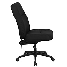 Hercules Series 400 Lb. Rated High Back Big & Tall Black Fabric Executive Swivel Chair