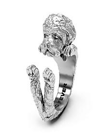 Maltese Hug Ring in Sterling Silver