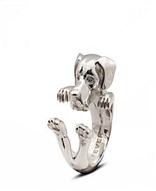 Great Dane Hug Ring in Sterling Silver