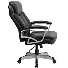 Hercules Series Big & Tall 500 Lb. Rated Black Leather Executive Swivel Chair With Arms