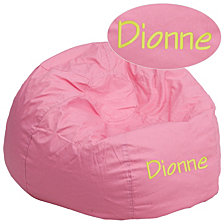 Personalized Oversized Solid Light Pink Bean Bag Chair