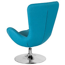 Egg Series Aqua Fabric Side Reception Chair
