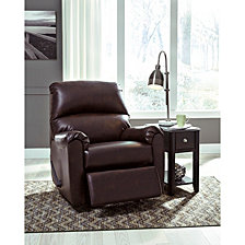 Signature Design By Ashley Talco Rocker Recliner In Faux Leather