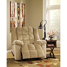 Signature Design By Ashley Ludden Rocker Recliner In Twill