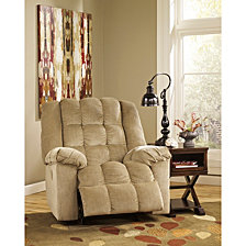 Signature Design By Ashley Ludden Power Rocker Recliner In Twill