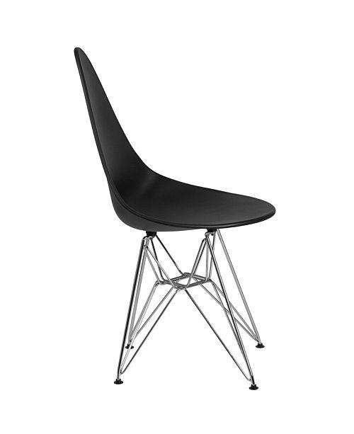 Superb Flash Furniture Allegra Series Teardrop White Plastic Chair Creativecarmelina Interior Chair Design Creativecarmelinacom