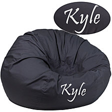 Personalized Oversized Solid Gray Bean Bag Chair