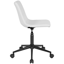 Siena Home And Office Task Chair In White Leather