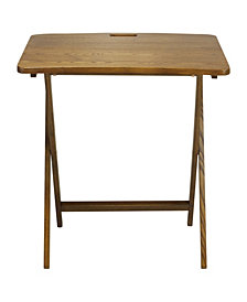 Arizona Folding Table with Solid American Red Oak
