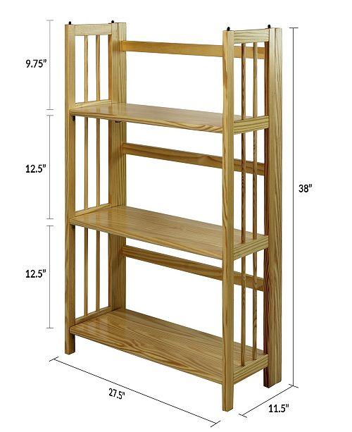 3 Shelf Folding Stackable Bookcase 27 5 Wide