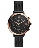 ad598ef4ac16 Fossil Q Women s Jacqueline Black Stainless Steel Mesh Bracelet Hybrid Smart  Watch 36mm