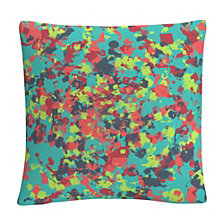 "Speckled Colorful Splatter Abstract 9 16x16"" Decorative Throw Pillow by ABC"