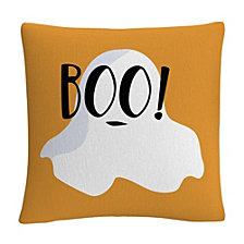 "Ghost Boo Halloween 16x16"" Decorative Throw Pillow by ABC"
