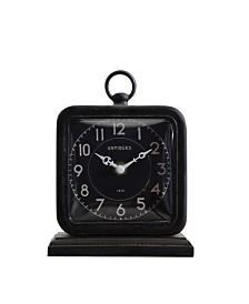 Black Pewter Table Clock