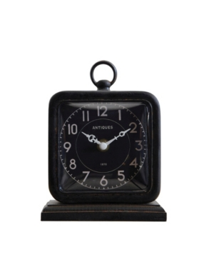 Image of Black Pewter Table Clock