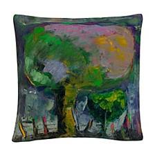 "Boyer Manzano De Noche Trees Abstract 16x16"" Decorative Throw Pillow by Masters Fine Art"