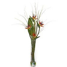 Nearly Natural Bird of Paradise and Greens Artificial Arrangement