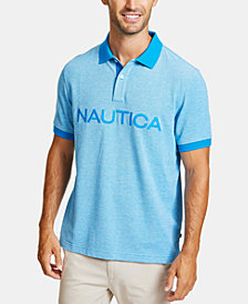 Nautica Men's Logo Oxford Polo
