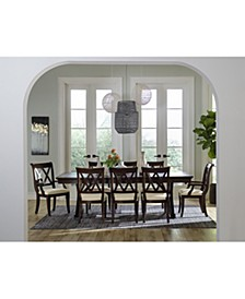 Baker Street Dining 9-Pc. Set (Dining Trestle Table, 6 Side Chairs & 2 Arm Chairs)