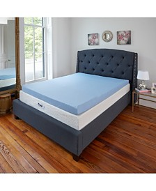 "Sleep Trends 3"" Cool Gel Memory Foam Mattress Topper Collection"
