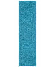 "Surya Mystique M-342 Bright Blue 2'6"" x 8' Area Rug"