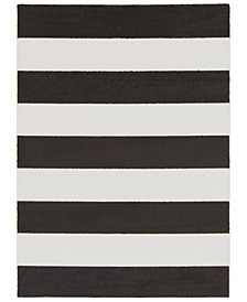 "Surya Horizon HRZ-1089 Black 6'7"" x 9'6"" Area Rug"
