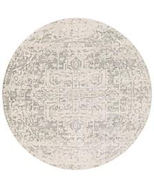 "Harput HAP-1024 Gray 7'10"" Round Area Rug"