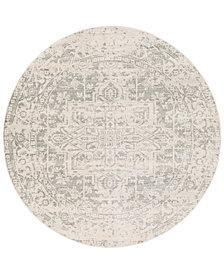 "Surya Harput HAP-1024 Gray 5'3"" Round Area Rug"