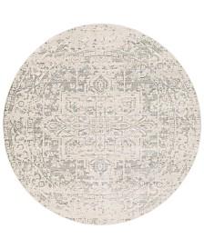 "Surya Harput HAP-1024 Gray 7'10"" Round Area Rug"