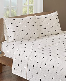Printed King Cotton Sheet Set