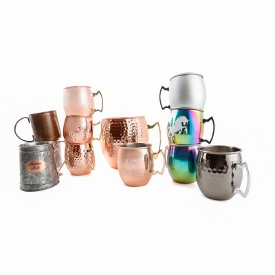 CLOSEOUT! Galvanized Mug with Copper-Plated Handle