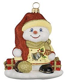 Joy To The World Glitterazzi Eggnog Snowman