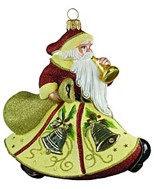 Glitterazzi Eggnog Santa Ornament