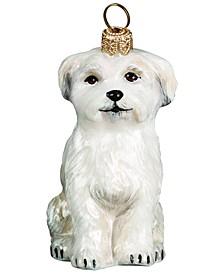 Maltese Sitting Position Puppy Cut Ornament
