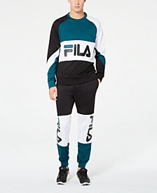 Fila Men's Colorblocked Shirt & Joggers