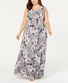SL Fashions Plus Size Floral Maxi Dress