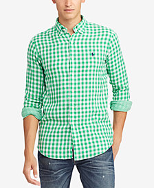 Polo Ralph Lauren Men's Classic Fit Double-Faced  Gingham Shirt
