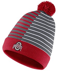 Nike Ohio State Buckeyes Striped Beanie Knit Hat
