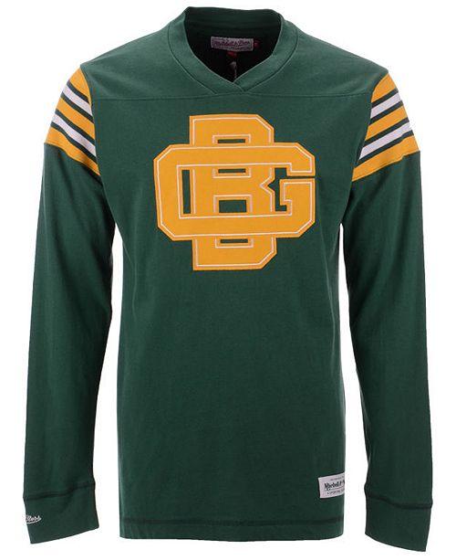 63bdb99b Mitchell & Ness Men's Green Bay Packers Team Captain V-Neck Long ...