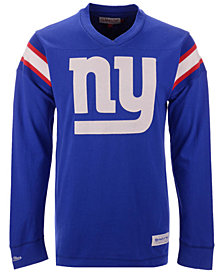 Mitchell & Ness Men's New York Giants Team Captain V-Neck Long Sleeve T-Shirt