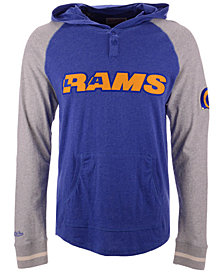 Mitchell & Ness Men's Los Angeles Rams Slugfest Lightweight Hooded Long Sleeve T-Shirt
