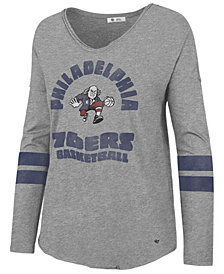 '47 Brand Women's Philadelphia 76ers Spirit Script Long Sleeve T-Shirt